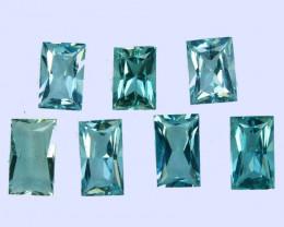 3.10Cts Natural Beautiful Light Blue Aquamarine  6.5x4.5, 5.5x4mm Princess
