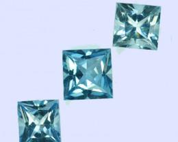 1.93Cts Natural Beautiful Light Blue Aquamarine 5 X 4mm Princess  Cut