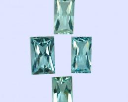 2.71Cts Natural Beautiful Light Blue Aquamarine Princess  Cut