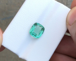 2.70 Ct Natural Blueish Green Transparent Tourmaline Gemstone