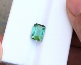 1.75 Ct Natural Blueish Green Transparent Tourmaline Gemstone