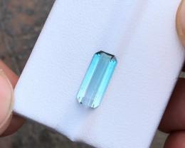 1.75 Ct Natural Blueish Transparent Tourmaline Gemstone