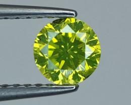 ~No Reserve~ 0.50 ct Majestic Top Luster Yellowish Green Diamond
