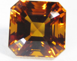 3.78Cts Excellent Natural Citrine Asher Cut 8.5mm Loose Gemstone REF VIDEO