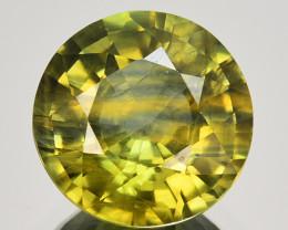 2.48 Cts Natural Sapphire Yellowish Green Pretty Round Cut Australia