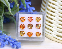 4.74Ct Heart Cut Natural Ceylon Padparadscha Sapphire Lot B0504