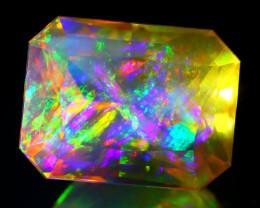 ContraLuz 6.75Ct Mexican Precision Cut Very Rare Species Opal B0528