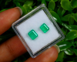 1.43Ct Colombian Muzo Emerald Neon Mint Green Beryl B0530