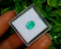 1.01Ct Colombian Muzo Emerald Neon Mint Green Beryl B0536
