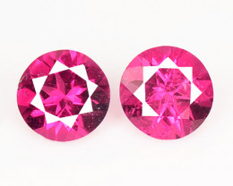 *NoReserve* 0.35 Cts 2 Pcs Pink Color Natural Rubellite  Loose Gemstone
