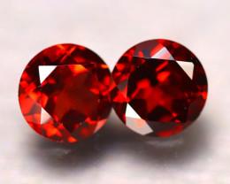 Almandine 2.88Ct 2Pcs Natural Vivid Blood Red Almandine Garnet E0606/B3