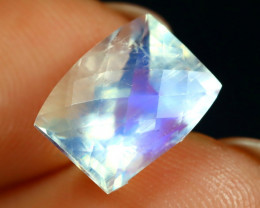 3.37Ct Pixalated Cut Natural Blue Flash Rainbow Moonstone C0603