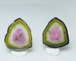 12.30 Heart -Warming Water-Melon Tourmaline Pair