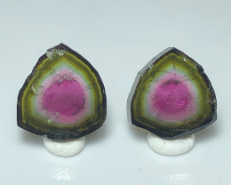 15.15 Heart -Warming Water-Melon Tourmaline Pair