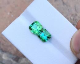 3.25 Ct Natural Greenish Blue Transparent Tourmaline Gemstones Parcels