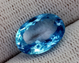 7.22CT BLUE TOPAZ BEST QUALITY GEMSTONE IIGC35
