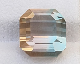Gorgeous 5.45ct natural bicolor tourmaline gemstone