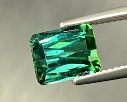 3.08ct  Verdelite Tourmaline-  Blue Green  Scissor-Cut  9x7mm