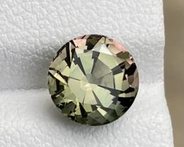 2.32ct natural bicolor tourmaline gemstone