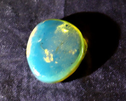 Lovely Natural Clear Sky Blue Amber Polished Stone 18x16x6mm