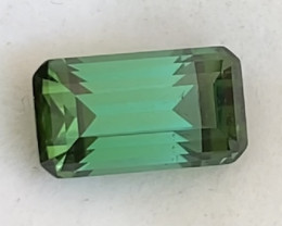 Pretty Emerald Cut Green Tourmaline. Afghanistan H717