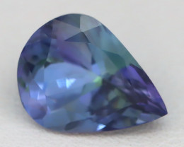 2.64Ct VVS Pear Cut Natural Unheated BiColor Peacock Tanzanite A0712