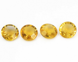 *NoReserve*Citrine 2.10 Cts 4Pcs Fancy Golden Yellow Color Natural Gemstone
