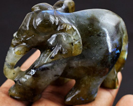MEGA  Auction - Handcarved Labradorite Elephant