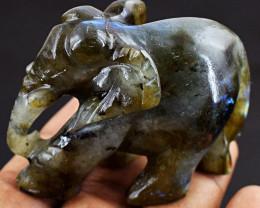 MEGA Auction - Handcarved Labradorite Elephant