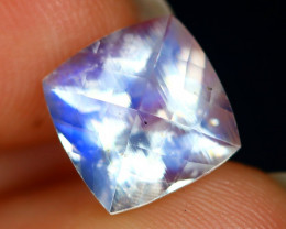 3.19Ct Pixalated Cut Natural Blue Flash Rainbow Moonstone B0805