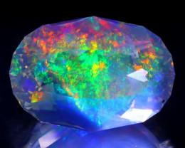 14.40Ct ContraLuz Oval Cut Mexican Very Rare Species Opal B0806