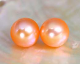 8.0mm 7.04Ct Natural Australian South Sea Orange Color Pearl B0811