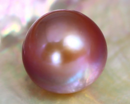 14.7mm 24.29Ct Natural Australian South Sea Purple Color Pearl B0812