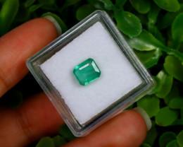 1.40Ct Colombian Chivor Emerald Neon Mint Green Beryl B0816