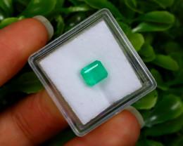 1.25Ct Colombian Muzo Emerald Neon Mint Green Beryl B0826