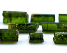 NR!!! 51.55 Cts Natural & Unheated~ Green Tourmaline Rough Lot