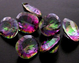 PARCEL 7 PC MYSTIC QUARTZ  VVS  FACETED 20.40 CTS  GTT 672