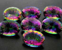PARCEL 7 PC MYSTIC QUARTZ  VVS  FACETED 37.75 CTS  GTT 680