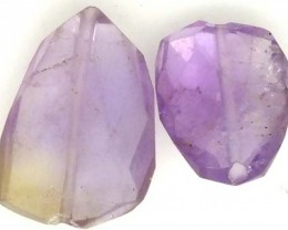 AMETHYST FACETED BEAD NATURAL 2 PCS 8.8 CTS  NP-1569
