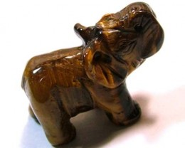 CARVING TIGEREYE ELEPHANT 13.70 CTS LT -198 (LT-CR)