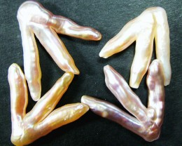 'CHICKEN FEET' KESHI PEARLS  -HIGH LUSTER  50CTS [PF450]