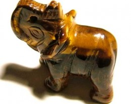 CARVING TIGEREYE ELEPHANT 8.55 CTS LT - 201 (LT-CR)
