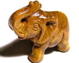 CARVING TIGEREYE ELEPHANT 13.15 CTS LT - 206 (LT-CR)