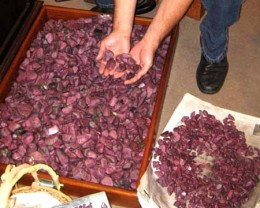 This is the  large parcel of ruby from Africa that i selected the rough from.