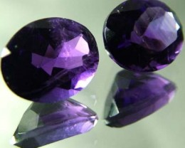 DARK AMETHYST PAIR  FROM NAMBIA  10X5 MM    4.90 CTS [TS471]