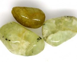 PREHNITE BEAD DRILLED 3 PCS 91 CTS  NP-1344
