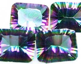 PARCEL OF 4 'GALAXY' MYSTIC QUARTZ 13CTS [S4710 ]