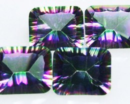 PARCEL OF 4 'GALAXY' MYSTIC QUARTZ 12CTS [S4776 ]3