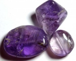 AMETHYST BEAD NATURAL (3PC) 29.75CTS NP-650