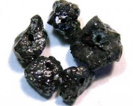 RAW BLACK DIAMOND BEADS DRILLED  2 CT PG-506